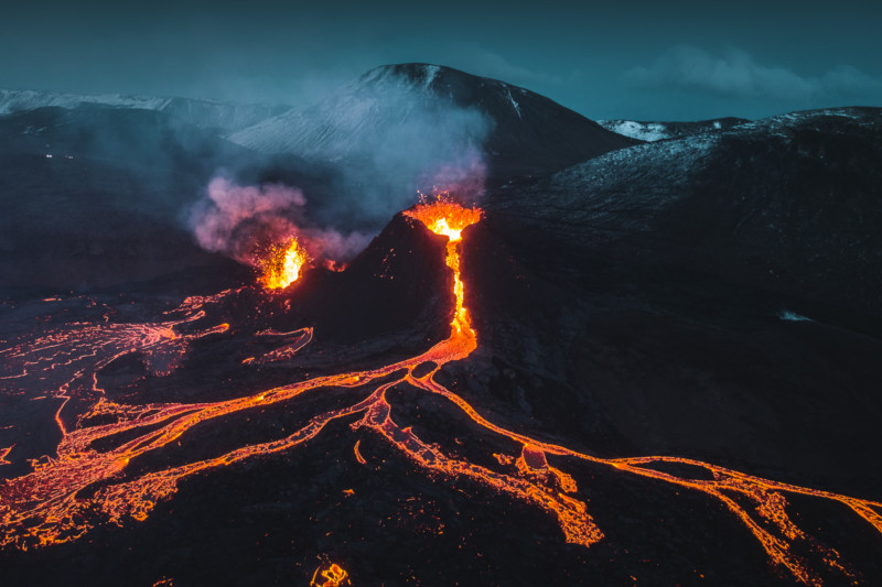 'Melted My Drone For This Shot': Photographer Captures Stunning Footage Of Volcano Eruption